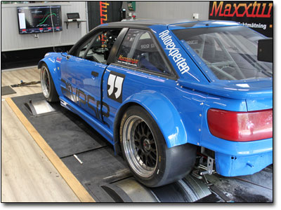 Mappning custom built Audi S2 RWD with BMW turbo engine - Maxxtuning AB