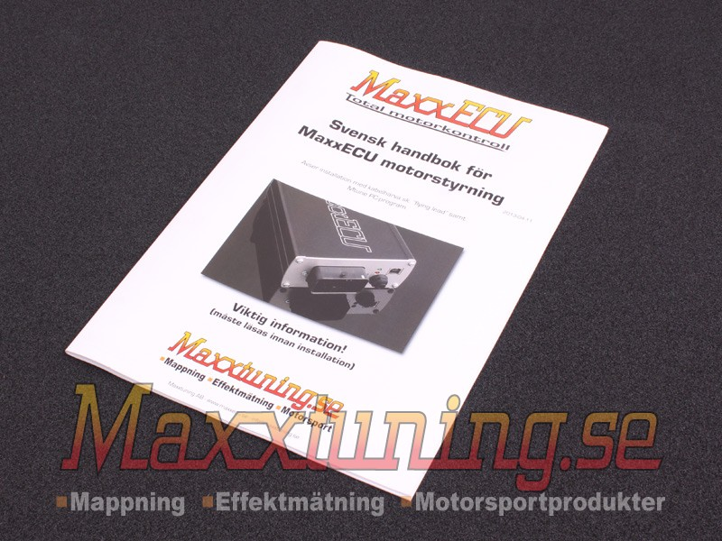 MaxxECU V1 handbook - Swedish / English
