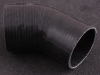 Silicone reduction bend 45 degree 76-51mm Black