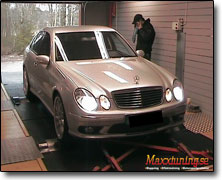 Dynotesting Mercedes AMG E55 - Orginal ECU