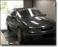 Dynotesting Opel Calibra 16v Turbo - Orginal ECU