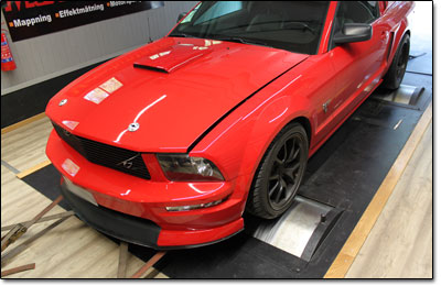 Dynotesting Ford Mustang GT - Orginal ECU